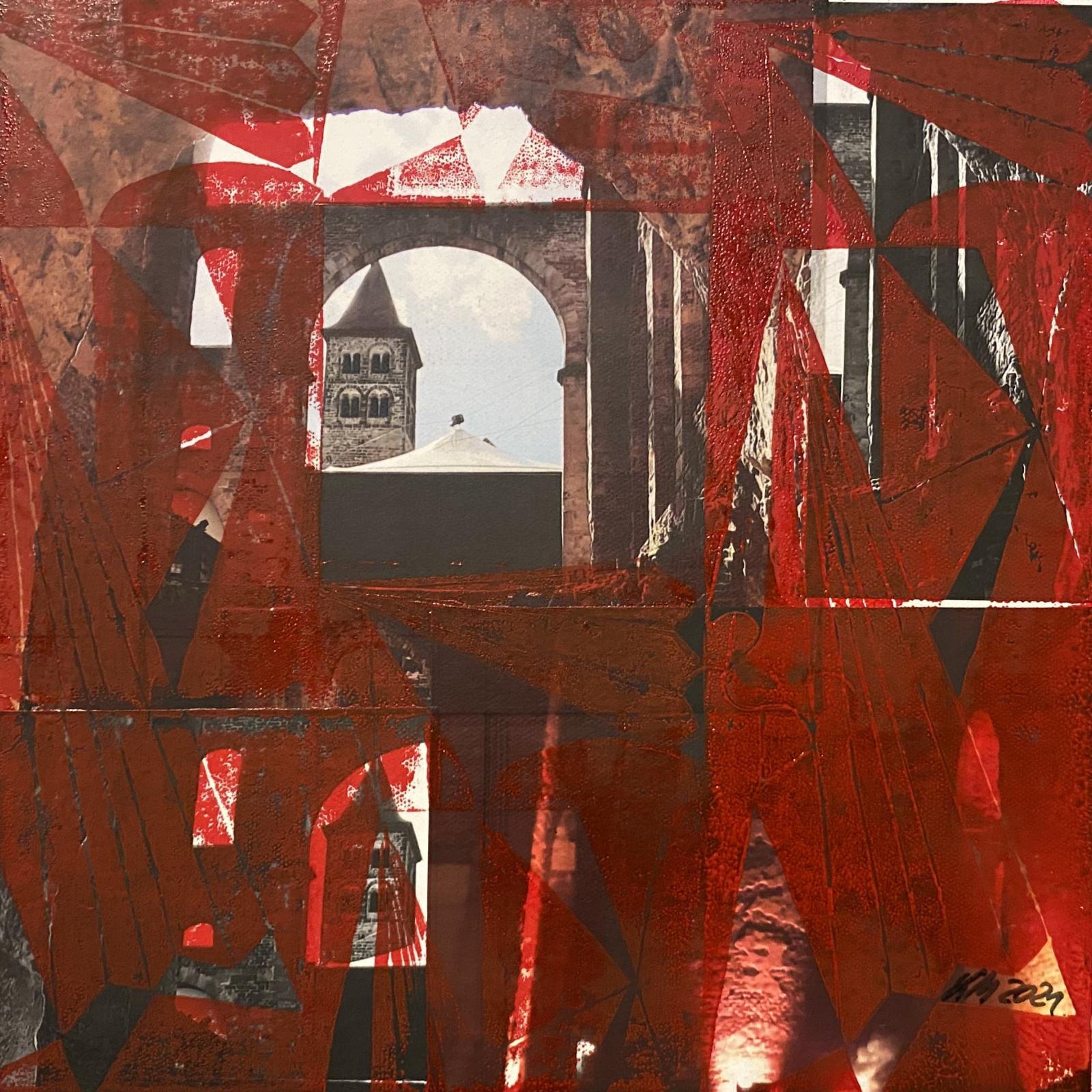 Ruine in Rot von Kerstin Micheel