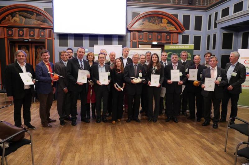 Urkundenverleihung Europäische 100 EE - Regionen