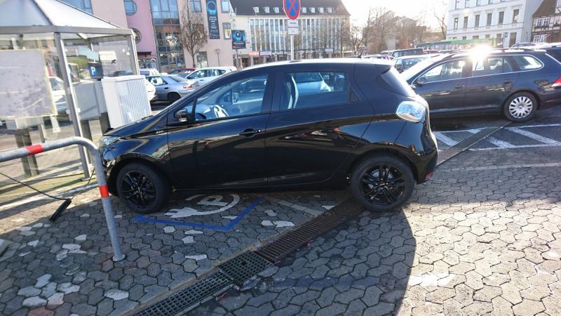 Elektro-Mobil in Bad Hersfeld, hier ein Zoe